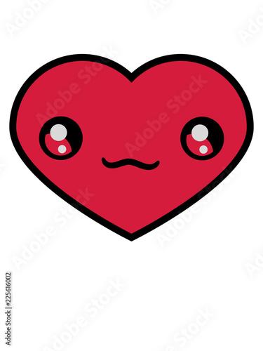 Herz Herzchen Gesicht Suss Niedlich Kopf Form Liebe Verliebt Paar