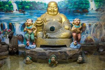 The sitting Buddha statue in Buddhist monastery.