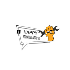 happy labour day illustration vector