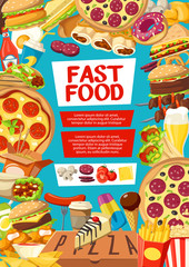 Fast food menu cover for street dishes or desserts