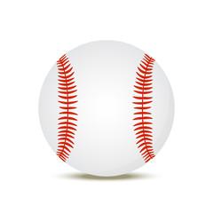 Vector 3d realistic baseball ball, American sport