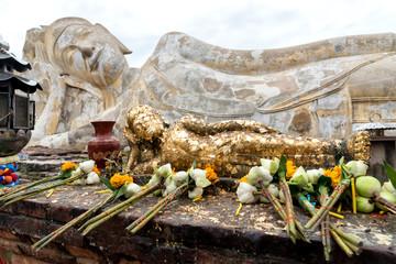 Reclined Buddha statue in Ayutthaya