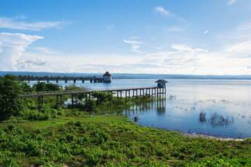 Photo sur Plexiglas Barrage landscape view of Lam Chae dam at Nakhon Ratchasima, Thailand