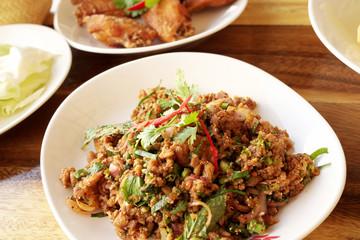Spicy Minced Pork in Thailand