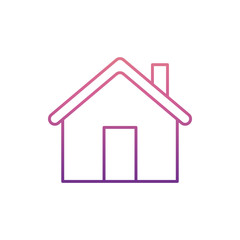 home icon in nolan style. One of Web collection icon can be used for UI, UX
