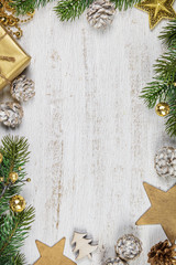 Christmas background-rustic stule