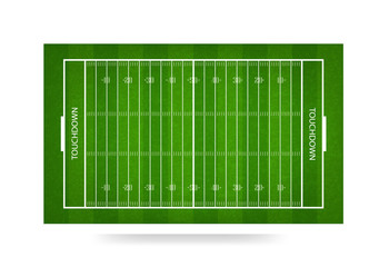American football field background. Vector.