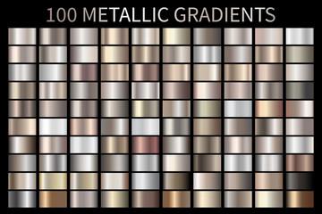 Metallic, bronze, silver, gold, chrome metal foil texture gradient Wall mural