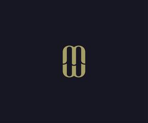 letter MW luxury logo