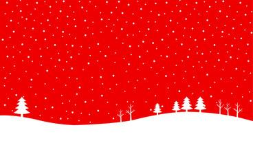 クリスマス 雪の背景素材