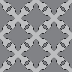 Crossed bones pirate seamless pattern gray colors