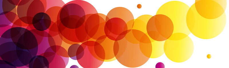 background and banner with balls of ink, vector abstract shape