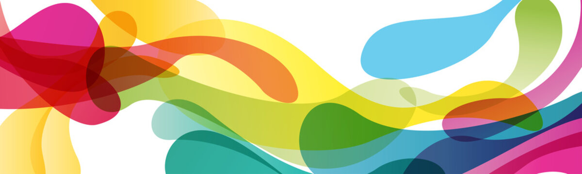 Summer background and banner with inks, splash and waves in vector abstract shape