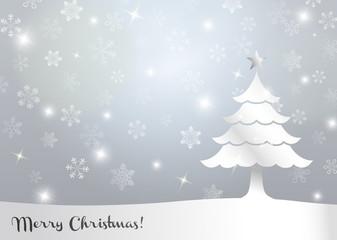 クリスマスツリー 背景イラスト