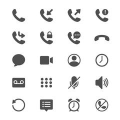 Telephone glyph icons