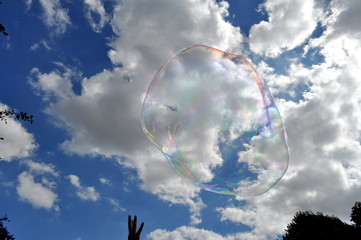 a big bubble in the sky