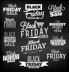 Black Friday Calligraphic Design Set