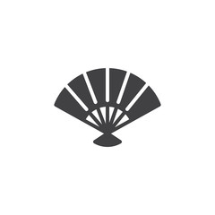 Folding Fan vector icon. filled flat sign for mobile concept and web design. Fan solid icon. Symbol, logo illustration. Pixel perfect vector graphics