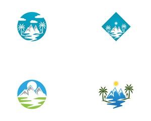Mountain logo vector template