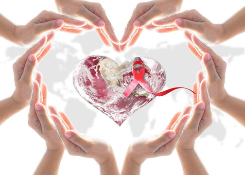 World heart health day, blood, organ donor concept with collaborative heart-shape hands