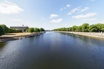 View down the River Trent, Nottingham, from Trent Bridge