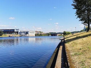 Industry lines the banks of the River Trent