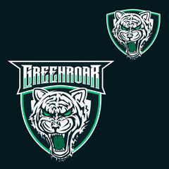 Tiger mascot logo template for sport game crew,company logo college team logo