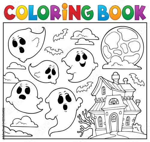 Coloring book ghost theme 6