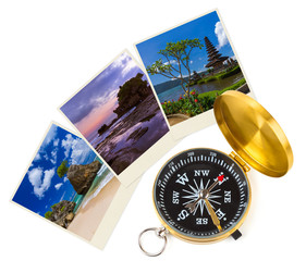 Bali Indonesia travel images (my photos) and compass