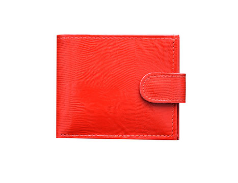 red wallet isolated on white background