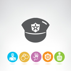 police and justice icons