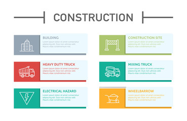 Construction Infographic Icons