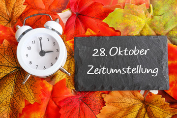 28. Oktober Zeitumstellung