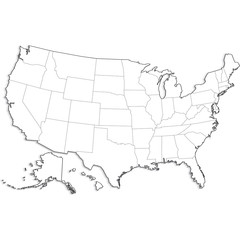 mappa stati uniti