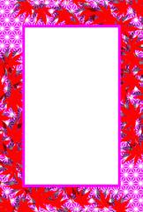 #Background #wallpaper #Vector #Illustration #design #Image #Japan #china #Asia #free_size #背景 #壁紙 #ベクター #イラスト #無料 #無料素材 #バックグラウンド #フリー素材 #和風素材 #日本 背景,写真枠,フォトフレーム,秋,椛の葉,タイトルスペース,落れ葉,枯ち葉,紅葉,余白,レトロチック