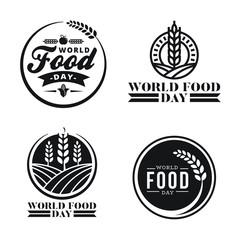 world food day logo badges