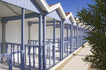 Typical Forte dei Marmi beach huts cabin