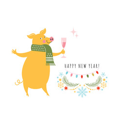 Pig is a symbol of the 2019 Chinese New Year,Yellow Pig