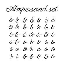 Ampersand set