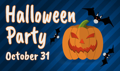 Happy Halloween Party Greeting card. Happy Halloween banner and poster. Vector illustration