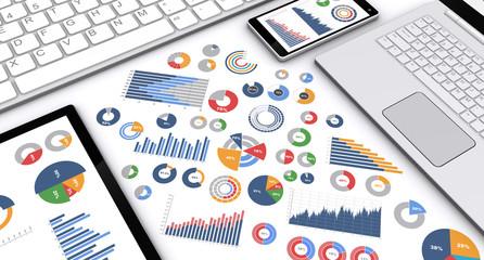 デバイスとビジネスチャート