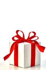 Gift Box Red Satin Ribbon Bow