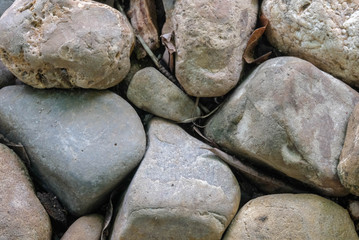 Small and large stones are arranged in various shapes,Concept idea whether small or large, all parts can live together.