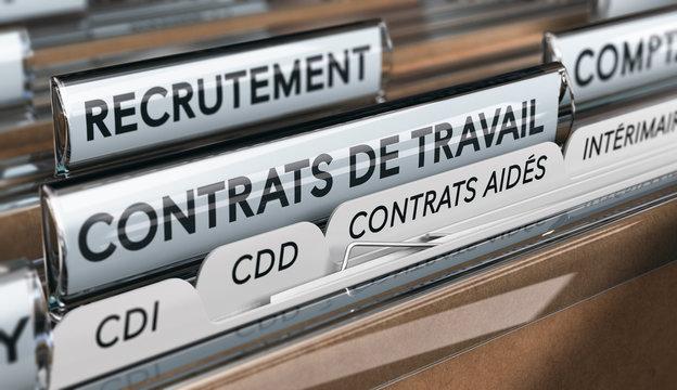 Types de contrats de travail. Le contrat aidé dans le secteur marchand.