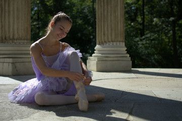 Ballett Tänzerin im Tempel
