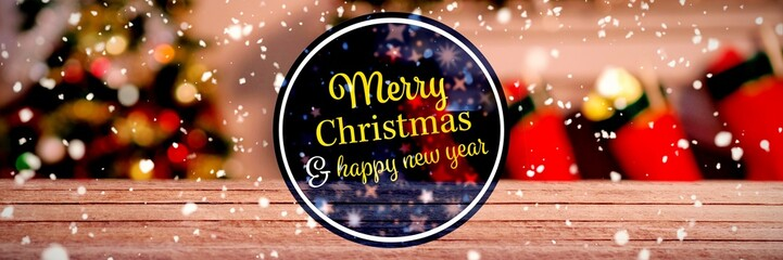 """Composite image of  """"merry christmas and happy new year"""""""