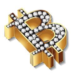 Bitcoin gold bling bling vector design