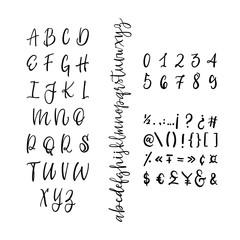 Modern Calligraphy Vintage Handwritten vector Font for Lettering.Trendy Retro Calligraphy Script.