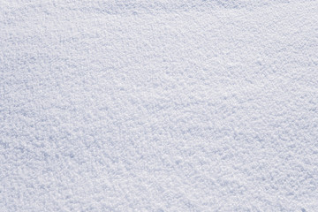 high angle view of snow texture. white texture of freshly fallen snow