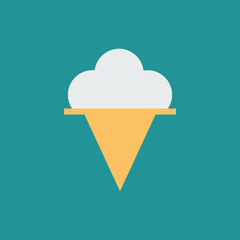 Silhouette icon ice cream ball